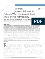 Postoperative Pain Self-Management Behavior in Patients Who Underwent Total Knee or Hip Arthroplasty