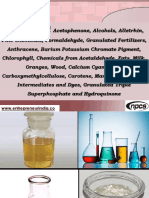 Production of Acetophenone, Alcohols, Alletrhin, Fine Chemicals, Formaldehyde,.....