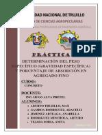 Informe Gravedad, Peso Especifico Arena Gruesa