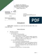 Complaint - Dulfo-Medida vs Delgado - 041318