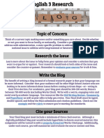 english 3 research topic blog