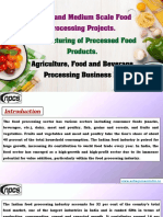 Small and Medium Scale Food Processing Projects.