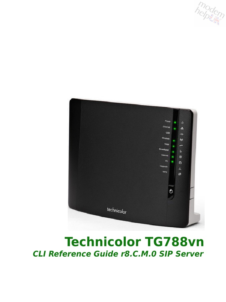 201302 Thomson Tg788 Guide Reference Telnet | Wi Fi | Domain Name System