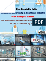 Setting Up a Hospital in India. Investment Opportunity in Healthcare Industry.