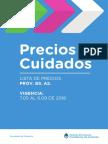 Precios Cuidados Provincia de Buenos Aires (interior) -  Mayo2018