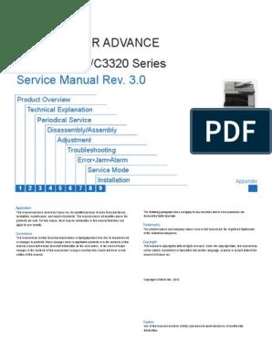 CANON PRINTER SERVICE MANUAL imagerunner_advance_c3325_series pdf