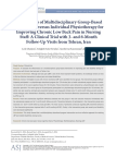 Jurnal Neuro LBP (Group Fisioterapi vs Single Fisioterapi)