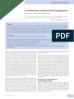Cornea Regeneration as an Alternative to Human Donor Transplantation 2015