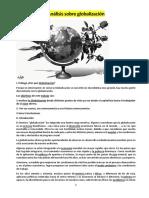 Analisis Sobre La Globalizacion