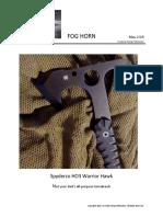 Spyderco HO3 Warrior Hawk - not your dad's all-purpose tomahawk.
