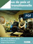 Université d'été - Processus de paix et Justice transitionnelle