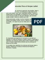 Remedios Naturales Para Herpes Labial y Genital