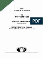 Prades Celma Jose Luis Y Sanfelix Vidarte Vicente - Wittgenstein - Mundo Y Lenguaje