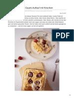 toertchenfieber.wordpress.com-süßer Couscous-Quark-Auflauf mitnbspKirschen