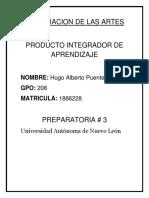 Apreciacion de Las Artes PIA Producto Integrador de Aprendizaje
