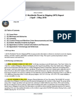 U. S. Navy Office of Naval Intelligence  Worldwide Threat to Shipping (WTS) Report 2 April - 2 May 2018