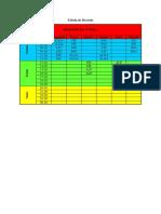 Tabela de Horário INF