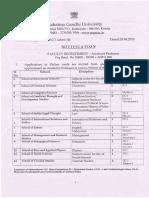 Mahatma Gandhi University Recruitment 2018 for 20 Assistant Professor Posts