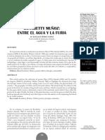 María de los Ángeles Pérez López - Rosabetty Muñoz - Entre El Agua y La Furia. Revista América sin nombre número 16 Año 2011