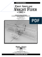 Model Airways Wright Flyer - Instruction Book