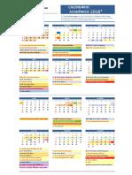 Calendário Acadêmico 2018 UnP