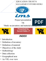 Study on Inventory and Material Management suresh