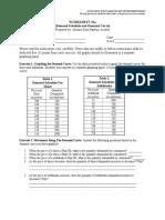 Demand Market Worksheet