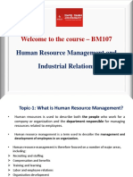 Unit- 1 - Human Resource Management and Industrial Relations
