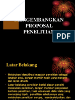 Panduan Menulis Proposal
