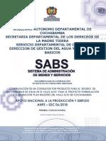 DBC MODELO DE UNA OBRA