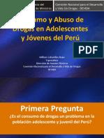 El Consumo y Abuso de Drogas en Adolescentes y Jóvenes Del Perú
