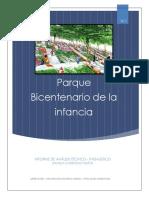 Informe Parque Bicentenario de La Infancia