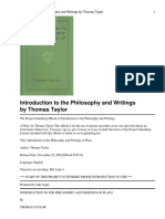 Introduction to the Philosophy and Writings