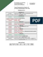 Calendário Acadêmico 2017-2 - Campi i e IV