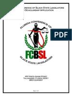 2018 FCBSL Scholarship Application