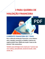 Quebra de Maldicao Financeira