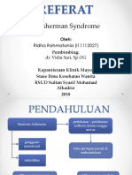 Referat Asherman Syndrome - Ridha Rahmatania