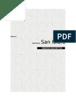 Memoria Descriptiva Arquitectura San Isidro