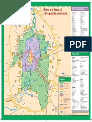 Cartina Dettagliata Roma.Mappa Fascia Verde Alta Risoluzione Roma