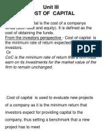 UNIT III Cost of Capital 2