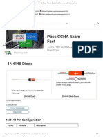 1N4148 Diode Pinout, Equivalents, Characteristics & Datasheet