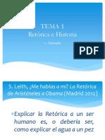 Tema 1. Retórica e Historia