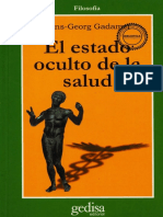 Gadamer, Hans-Georg - El Estado Oculto de La Salud(1993)