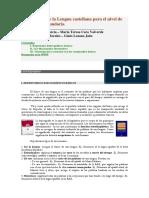 Lexicografía del castellano para E. Secundaria