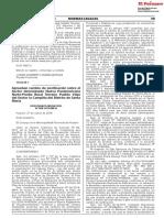 Aprueban cambio de zonificación sobre el Sector denominado Nueva Panamericana Norte-Predio Rural Terreno Pueblo Viejo del Sector la Campiña del Distrito de Santa María
