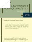 A Teoria Da Variação e Mudança Linguística