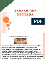 Abraziunea dentara