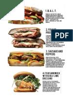 30 Sandwiches