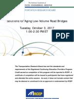 Solutions for Aging Low-Volume Road Bridges