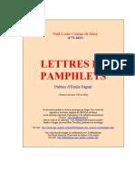 Courier Lettres Et Pamphlets